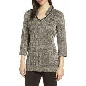 Ming Wang Women's Textured Knit Tunic